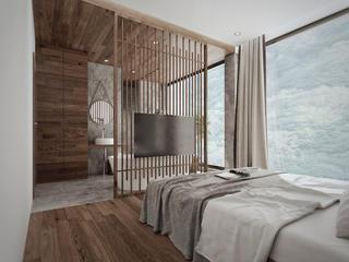 豪华民宿装修电视墙设计