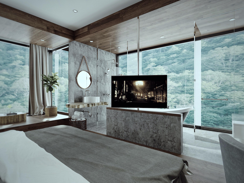 豪华民宿装修电视背景墙设计