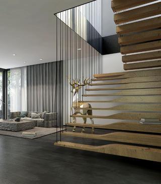 复式民宿装修楼梯设计