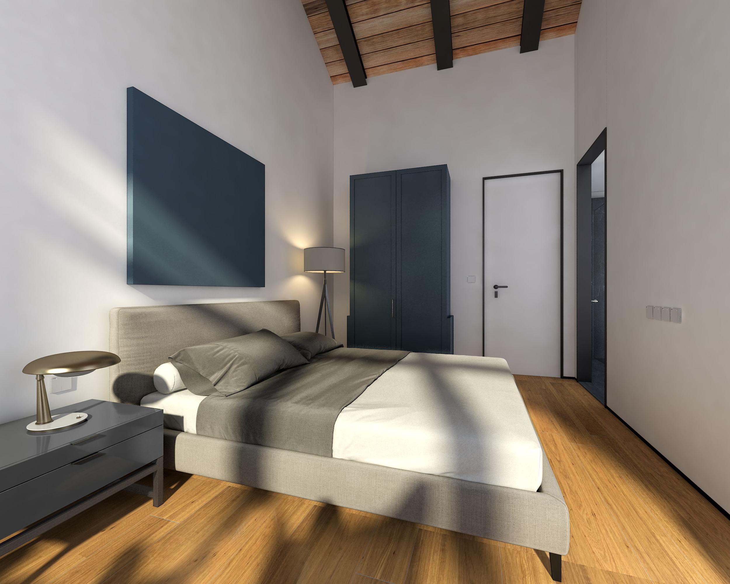 复式民宿装修床头柜图片