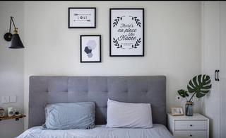 北欧三居室装修床头软包图片