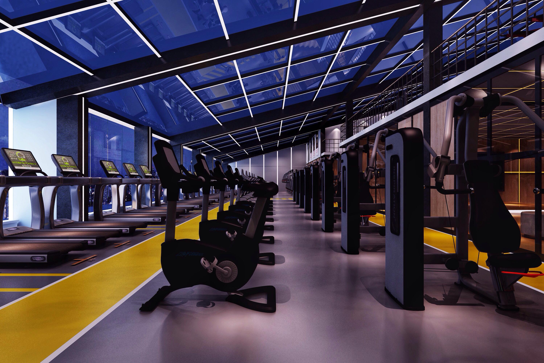 健身房装修健身区效果图