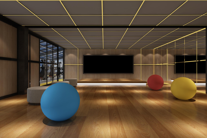 健身房装修瑜伽区效果图