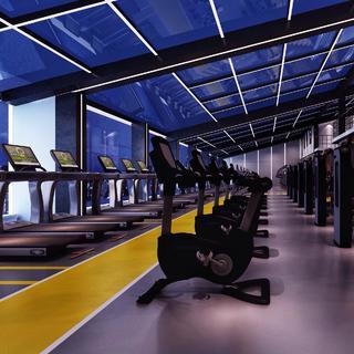 美感十足的健身房365体育在线官网直营效果图