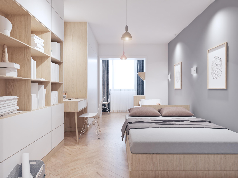 40㎡北欧风格家卧室设计图
