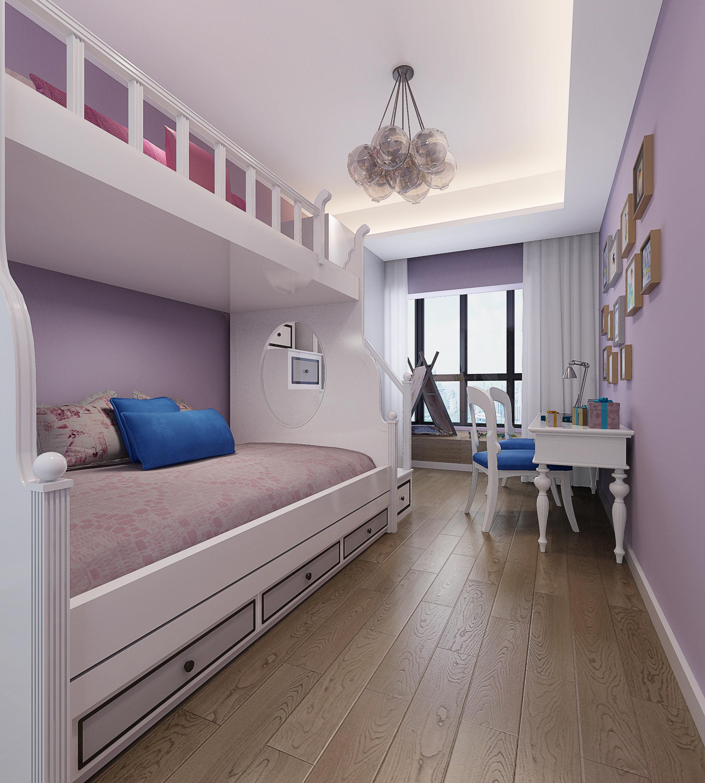 三居室简约风格家装修儿童房设计图