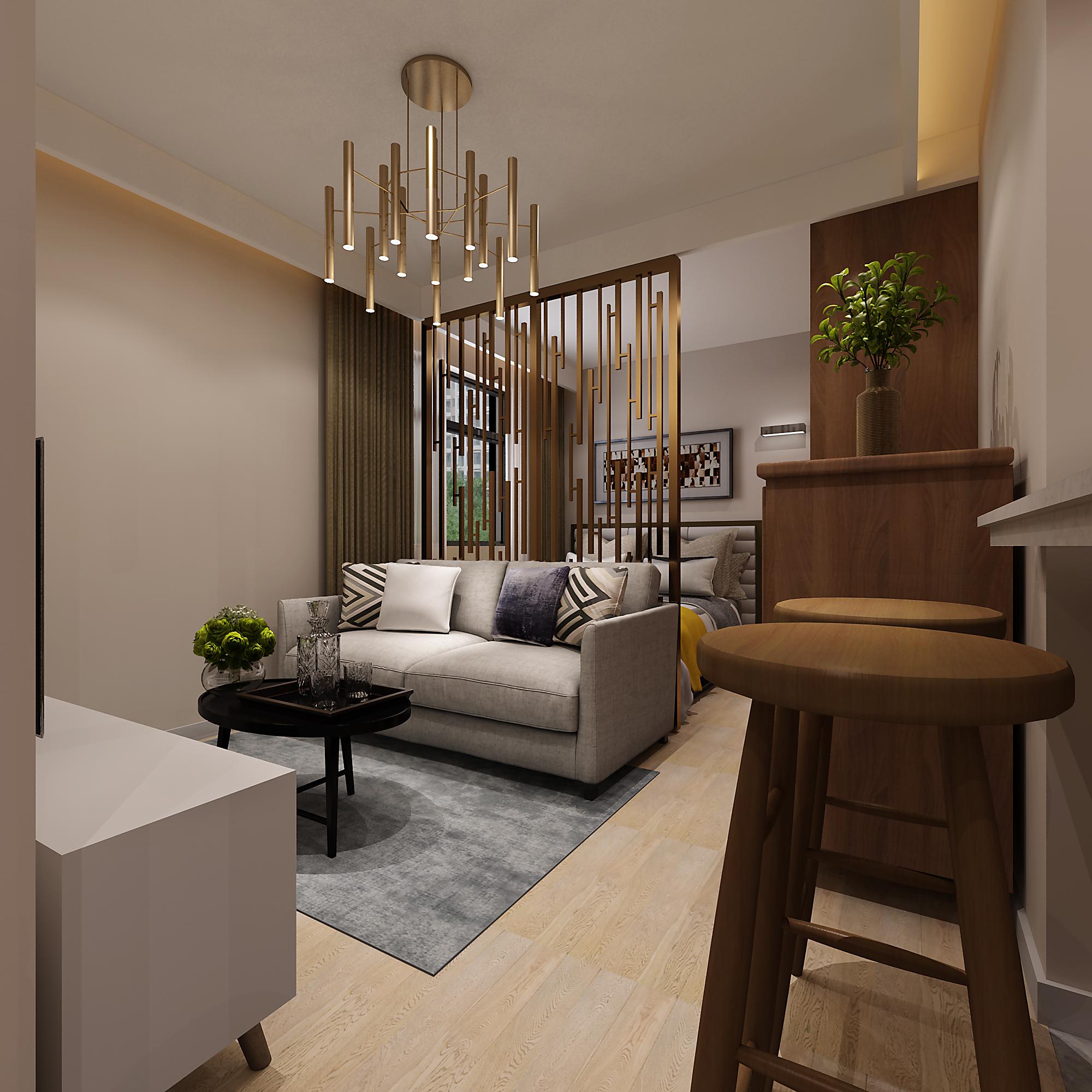 36平小户型装修客厅效果图