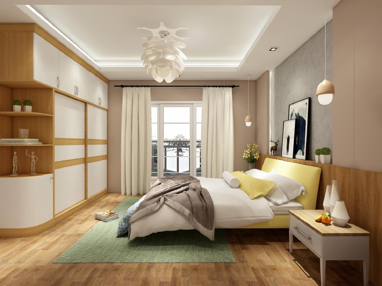 北欧三居室设计卧室效果图
