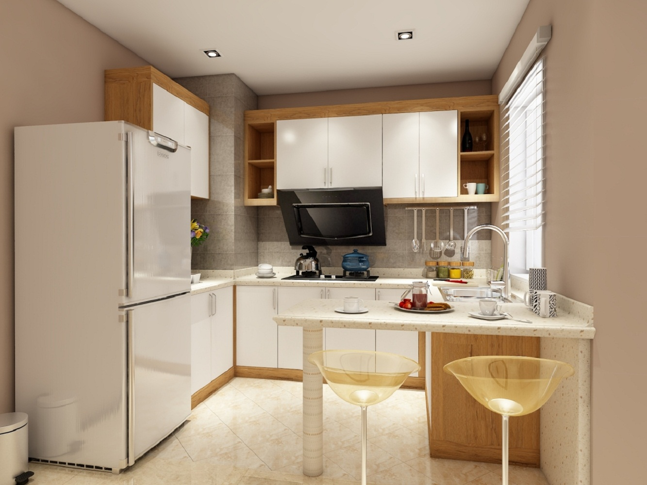 北欧三居室厨房设计图