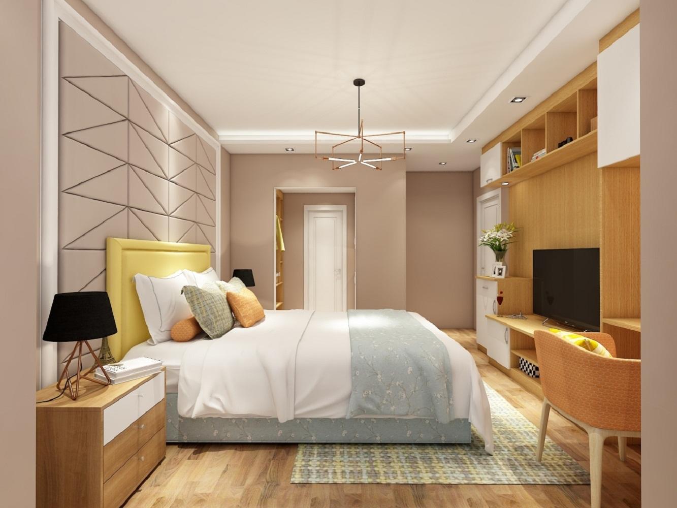 北欧三居室设计电视柜图片