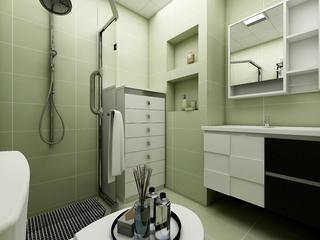60平简约二居装修卫生间装潢图