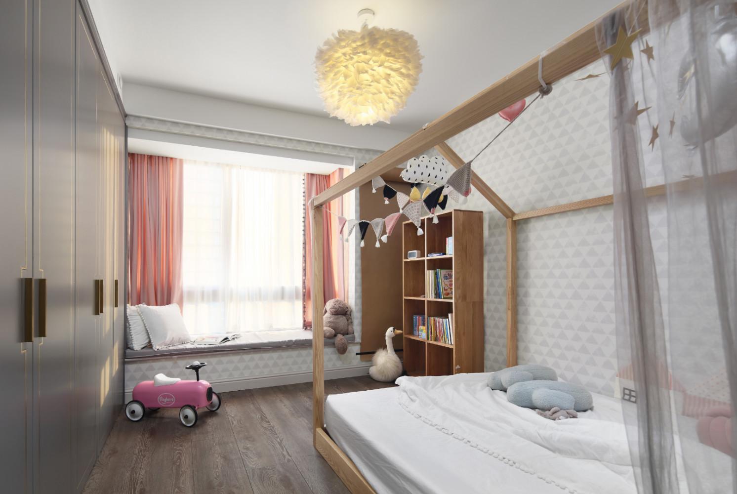 130㎡现代美式装修儿童房效果图