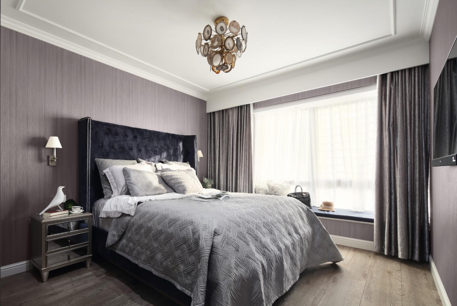 130㎡现代美式装修卧室效果图