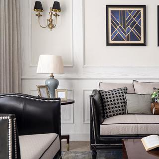 四居室现代美式空间 厚重沉稳
