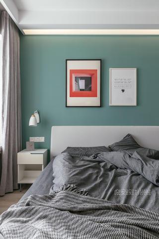 90平北欧风之家床头背景墙图片