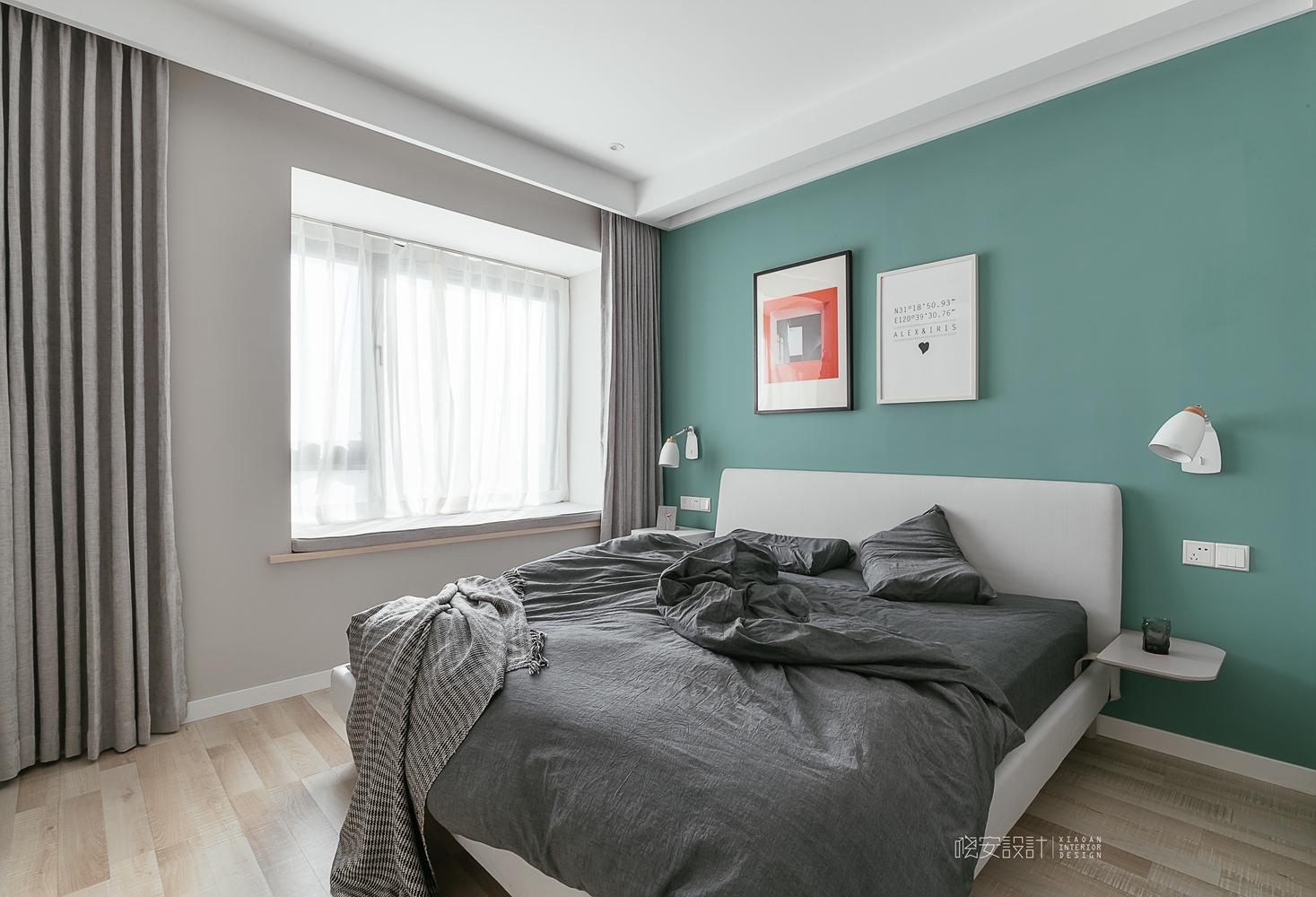 90平北欧风之家卧室效果图