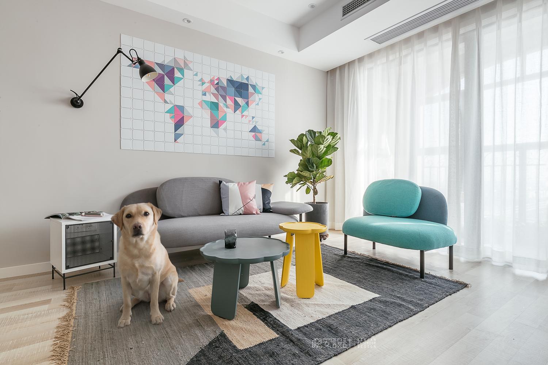 90平北欧风之家客厅设计图