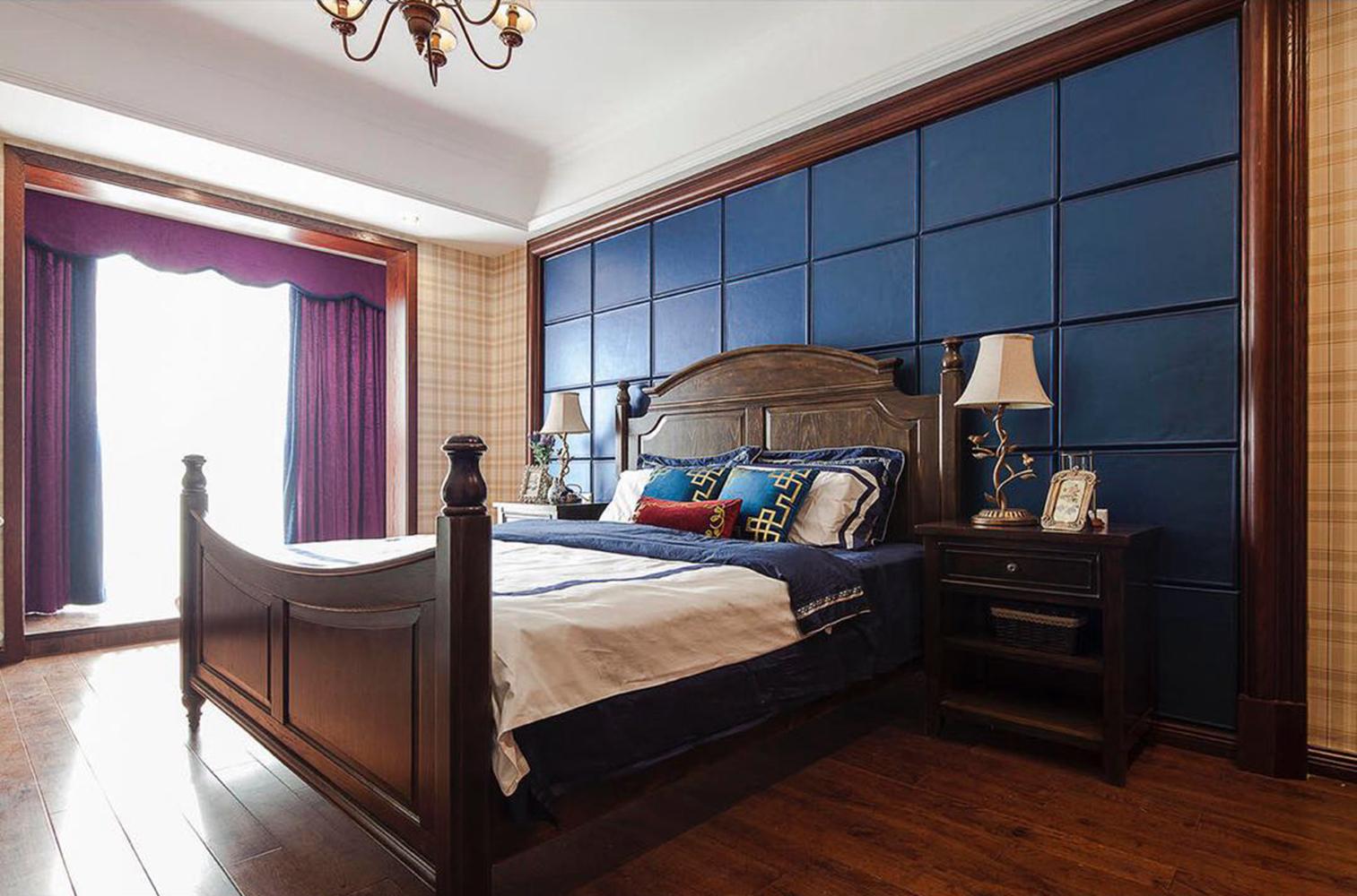 三居室美式装修卧室效果图