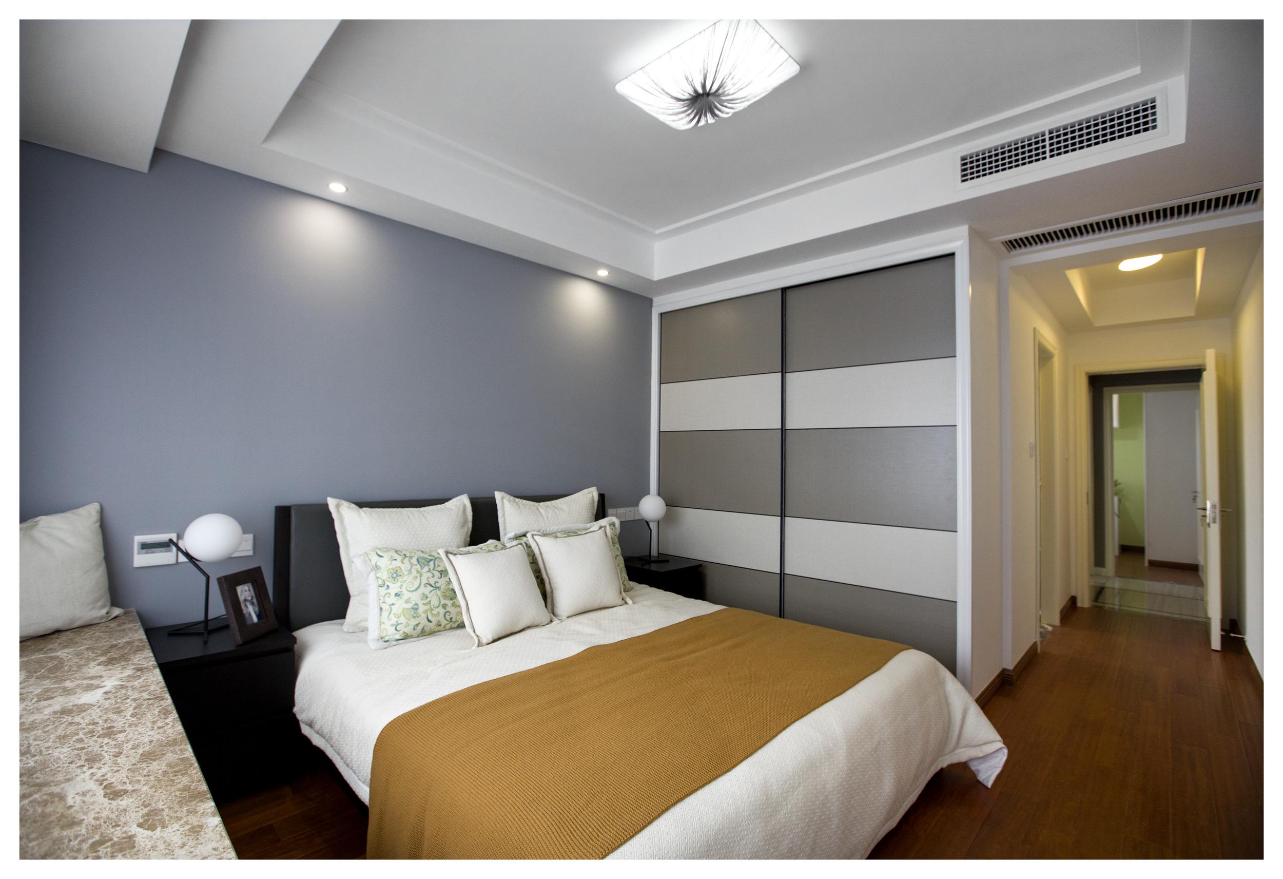 现代简约轻奢装修卧室效果图