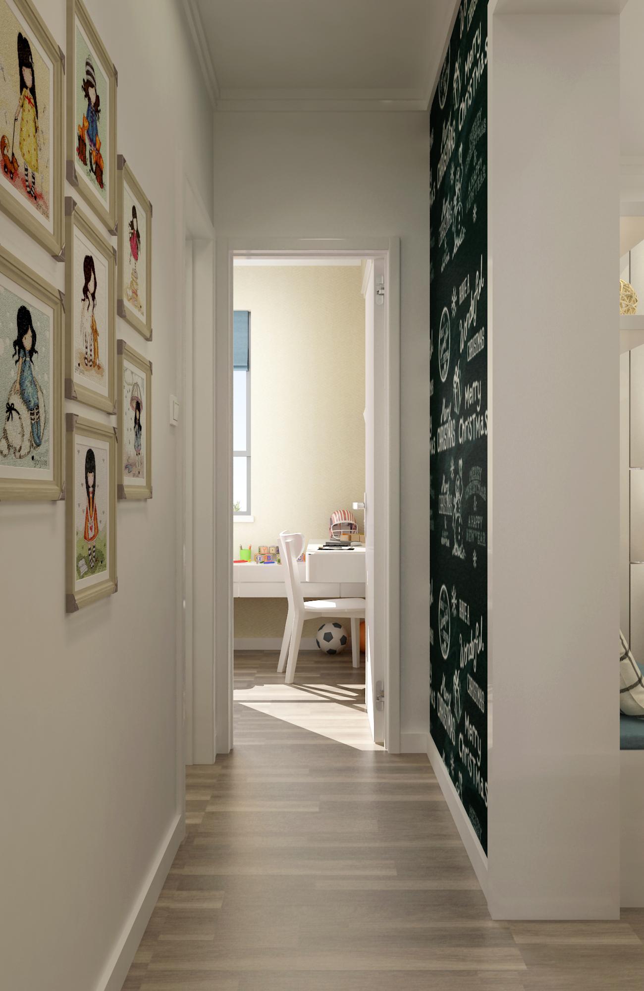 50平简约风格家照片墙设计