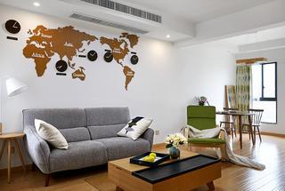 85㎡日式风格家客厅效果图