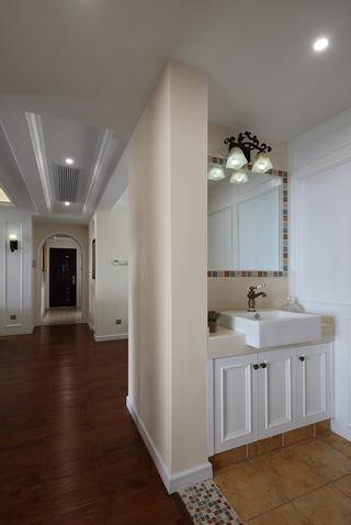 120平美式风格装修洗手台设计