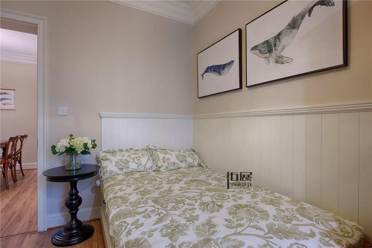110㎡美式三居装修榻榻米床设计