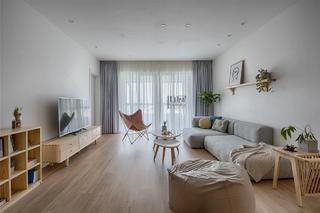 日式风格三居室客厅装修效果图