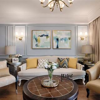 新古典美式四居装修效果图