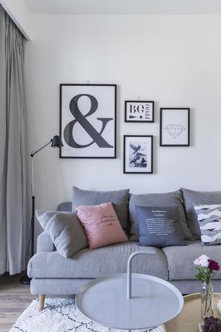 93㎡北欧风格装修沙发抱枕设计