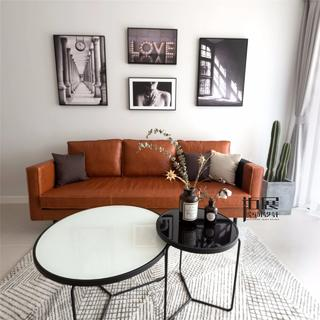 简约北欧两居沙发墙装修效果图