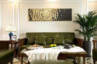 176平米四居室沙发背景墙装修效果图