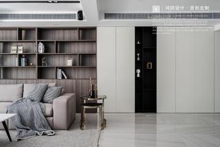 大户型现代轻奢风装修收纳展示柜设计