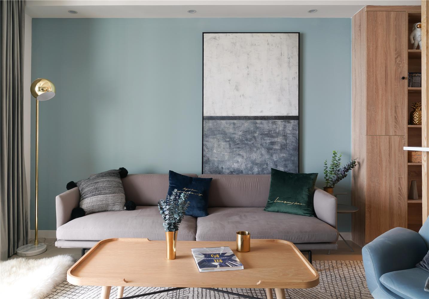 150平北欧风沙发墙装修效果图