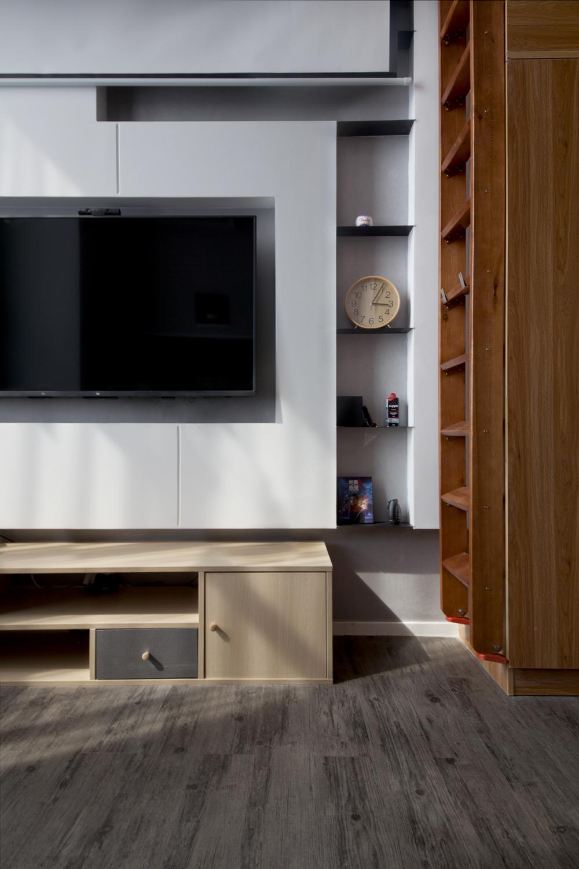 100㎡复式三居电视墙装修效果图