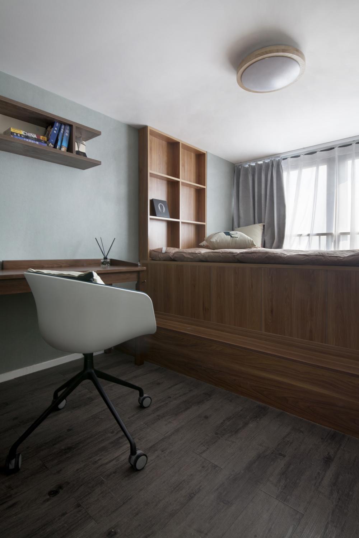 100㎡复式三居装修地台床设计