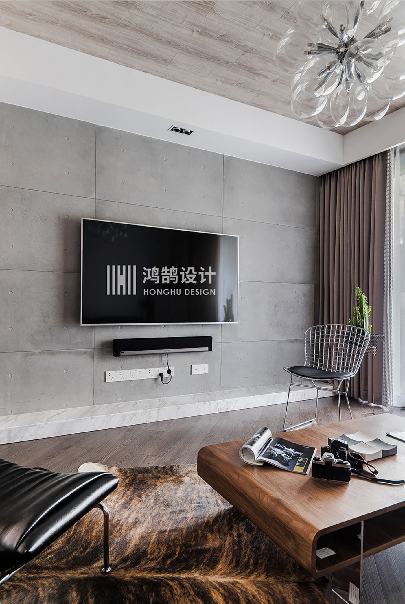 150平米三居室电视背景墙装修效果图