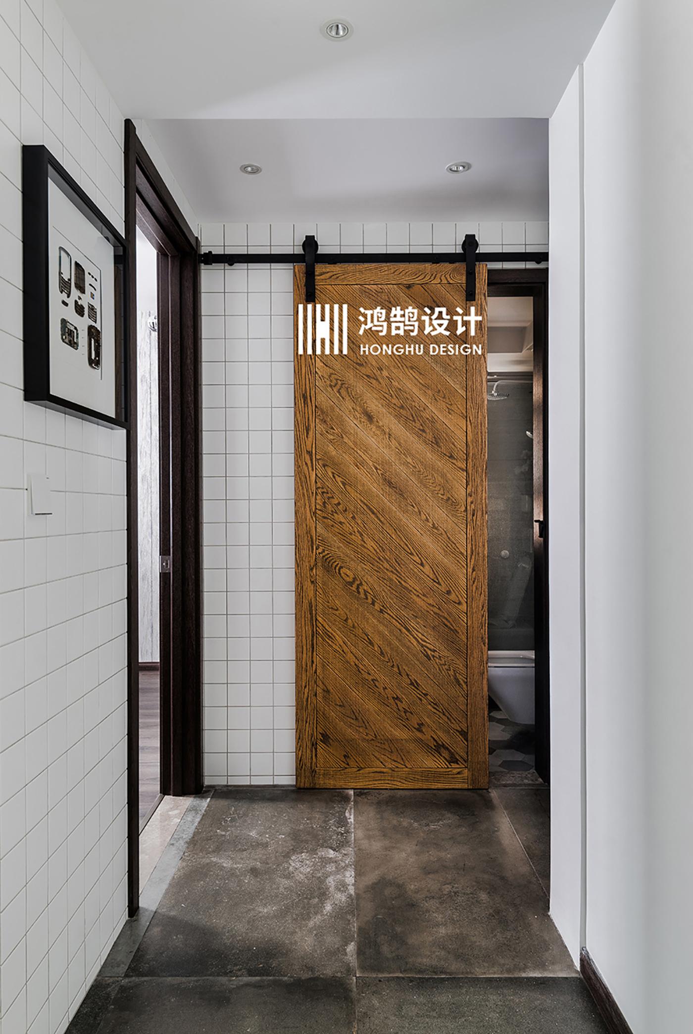 150平米三居室装修谷仓门设计