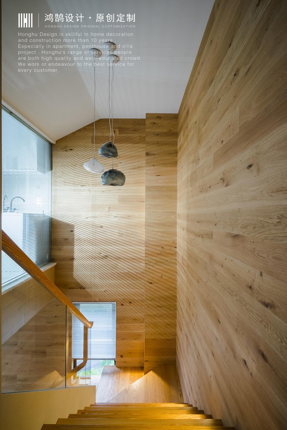 大户型复式装修楼梯间效果图