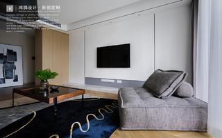 大户型复式装修电视背景墙效果图