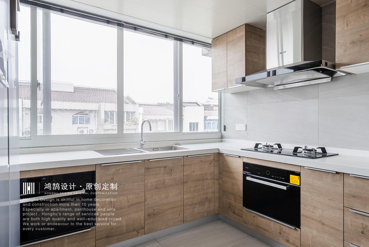 128平米北欧风厨房装修效果图