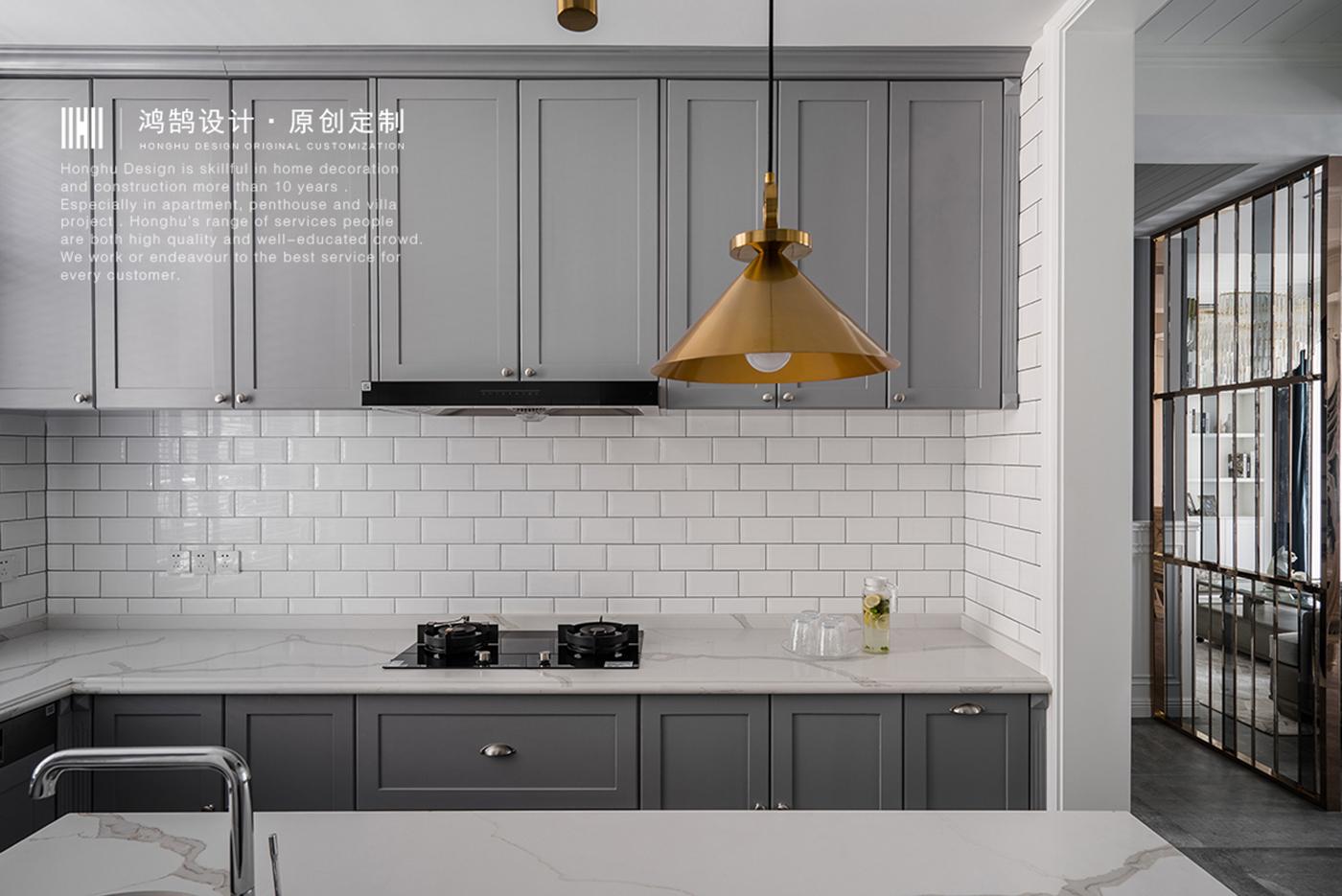 美式风别墅厨房装修效果图