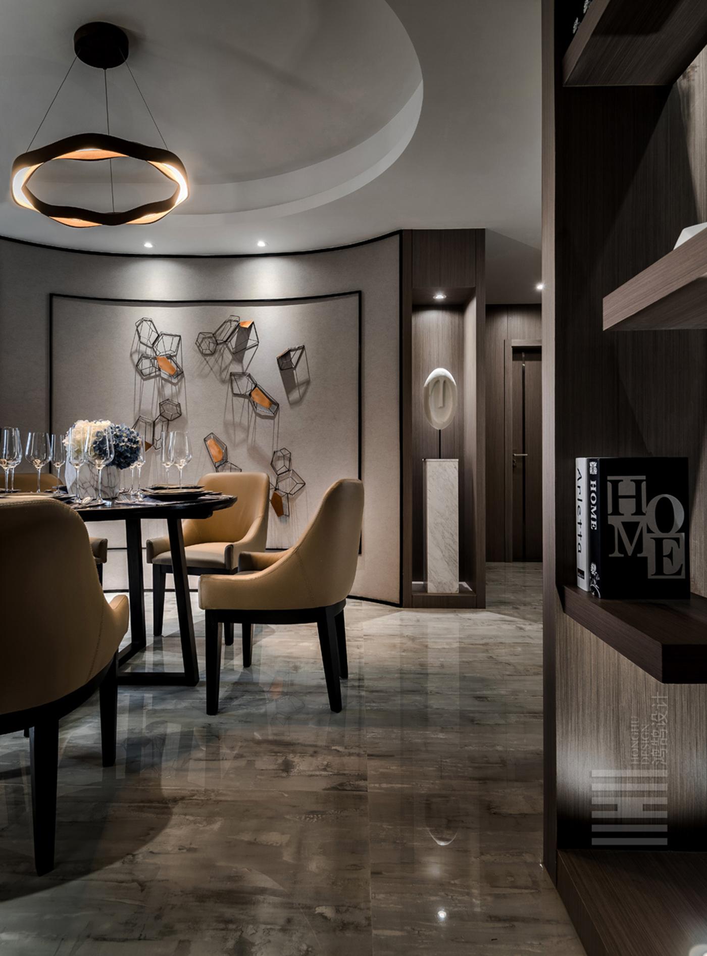 114平现代简约餐厅装修效果图