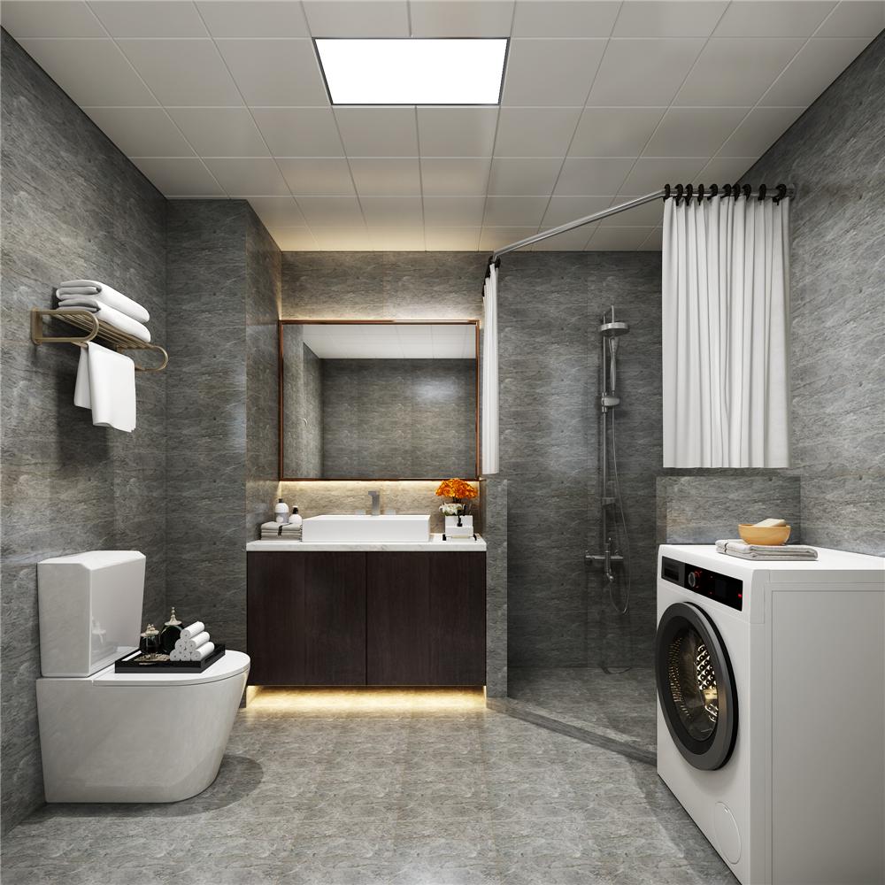 现代简约复式装修卫生间效果图