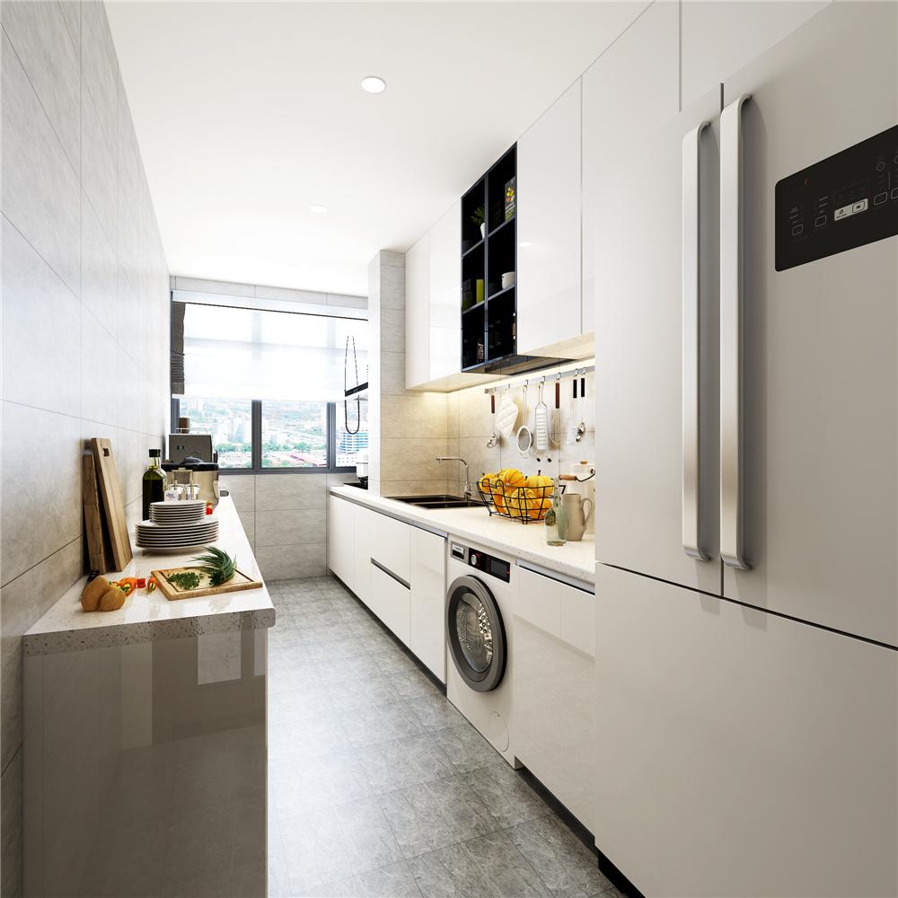 现代简约复式装修厨房效果图