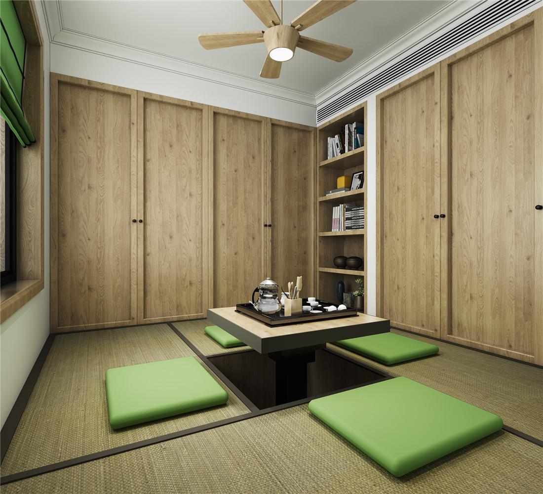 混搭风格二居室榻榻米装修效果图