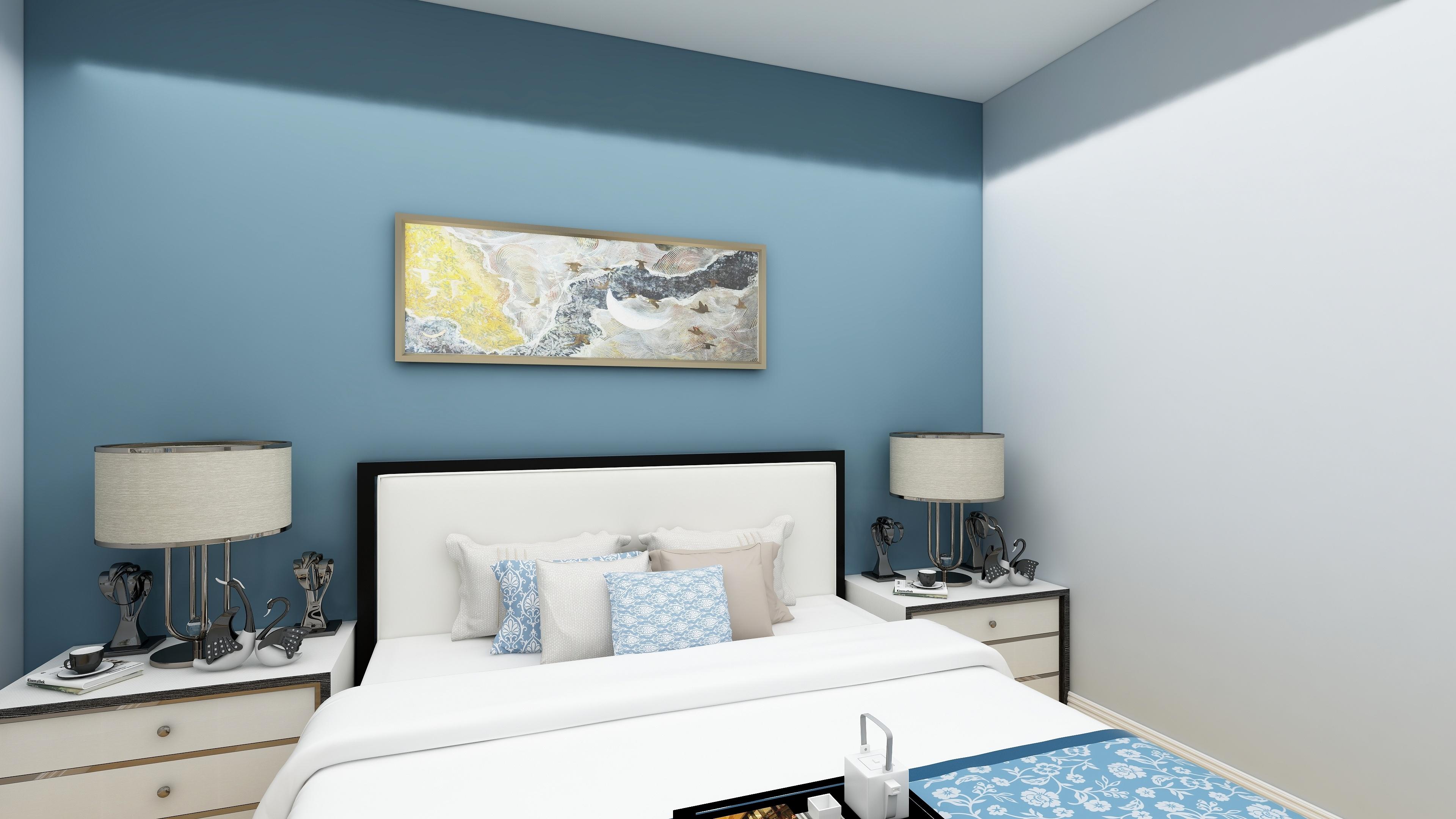 新中式三居卧室装修效果图
