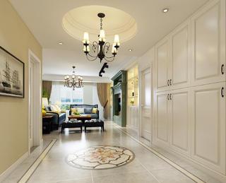 美式风格三居客厅过道装修效果图