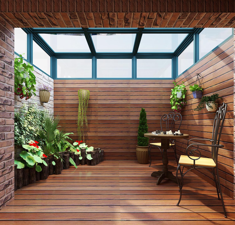 美式风格三居阳光房装修效果图