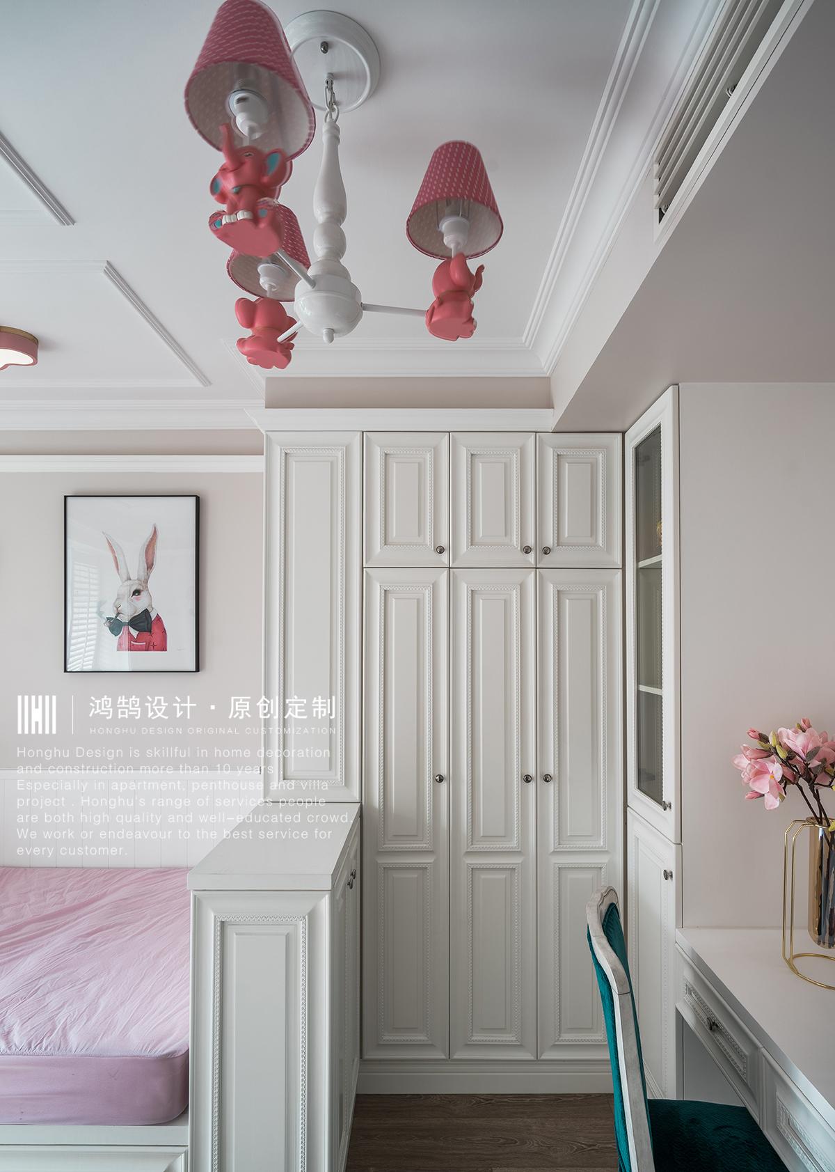 120㎡美式风装修儿童房衣柜设计